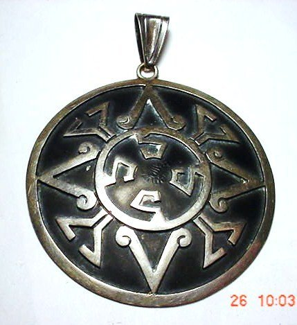 5: SIGNED MEXICAN STERLING PENDANT