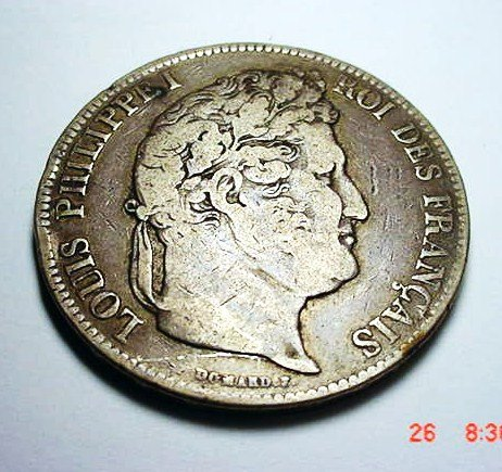 17: 1834 B FRANCE 5 FRANCS