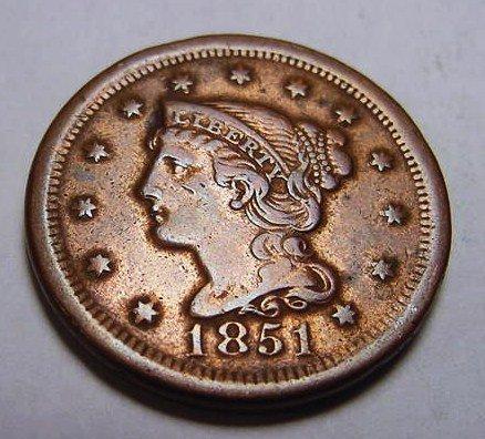 5: 1851 LARGE CENT