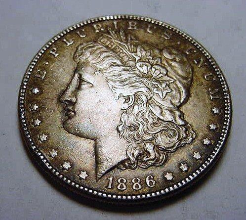 9: 1886 MORGAN DOLLAR