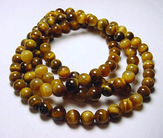 11: TIGERS EYE NECKLACE NEEDS CATCH