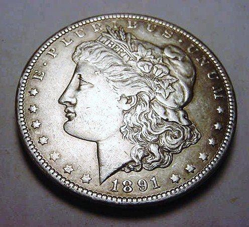 12: 1891-O MORGAN DOLLAR