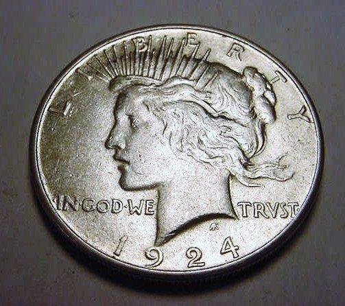 20: 1924-S PEACE DOLLAR