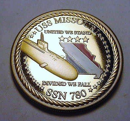 21: 2010 USS MISSOURI SSN 780 ALPHA SEA TRIALS MEDAL