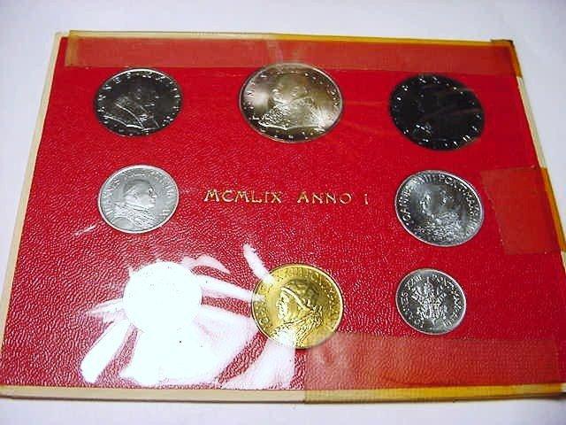 24: 1959 VATICAN COIN SET GEM B.U.