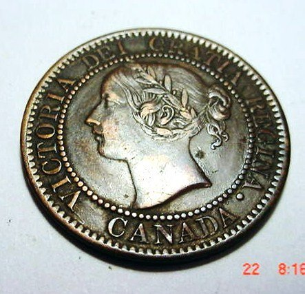 8: 1859 CANADA LARGE CENT