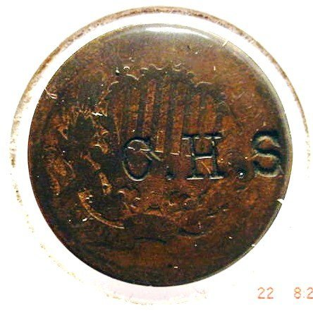 11: COUNTERMARKED 2 CENT PIECE