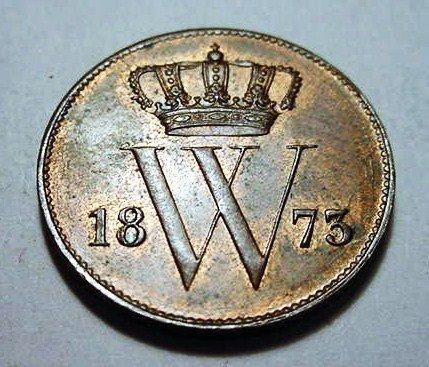 22: 1873 NETHERLANDS 1 CENT UNC