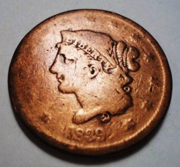 2: 1839 SILLY HEAD LARGE CENT
