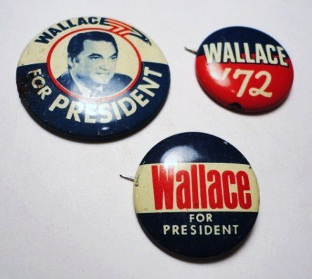 6: [3] WALLACE CAMPAIGN BUTTONS