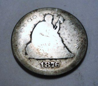 8: 1876-S SEATED LIBERTY QUARTER