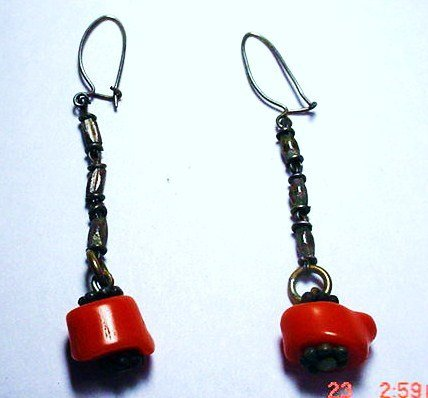 6: ANTIQUE CORAL EARRINGS