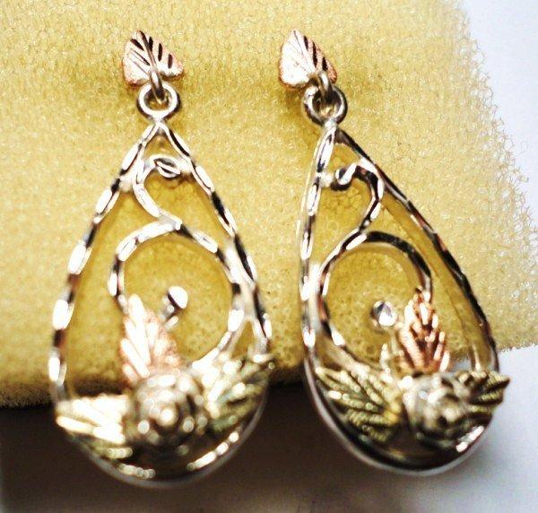 3: FANCY 12K GOLD & STERLING EARRINGS
