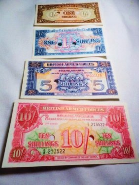 7: [4] WWII BRITISH MILITARY PAYMENT NOTES