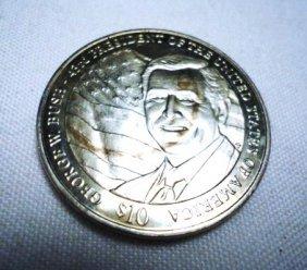 23: 2002 LIBERIA PRESIDENT BUSH COIN