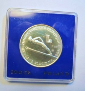 5: 1980 POLAND OLYMPIC 200 ZL PROOF COIN