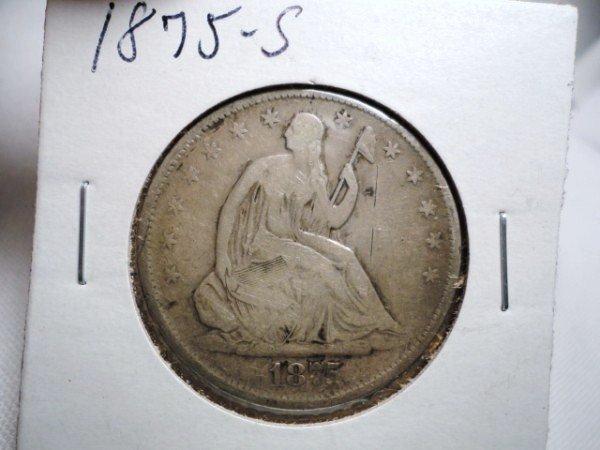 7: 1875-S SEATED LIBERTY HALF DOLLAR