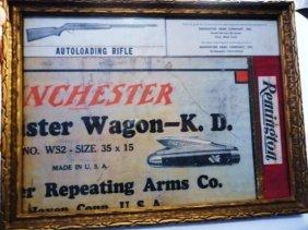 FRAMED WINCHESTER ADVERTISING