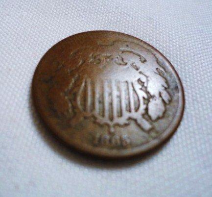 17: 1865 2 CENT PIECE