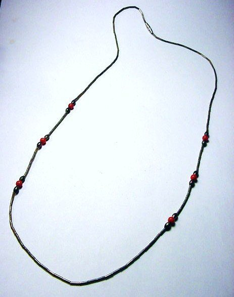 19: INDIAN SILVER CORAL NECKLACE