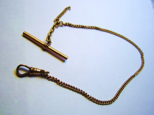 7: VINTAGE GOLD FILLED WATCH CHAIN
