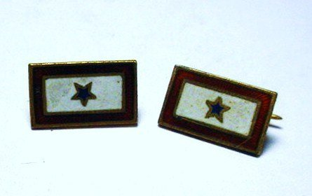 7: 2] STERLING ENAMEL SON IN THE SERVICE PINS