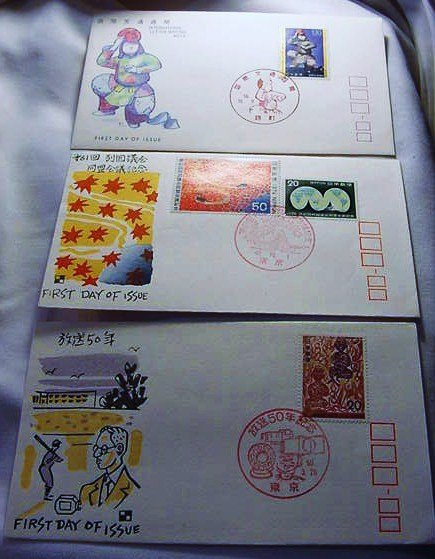 14: [3] JAPANESE FIRST DAY COVERS