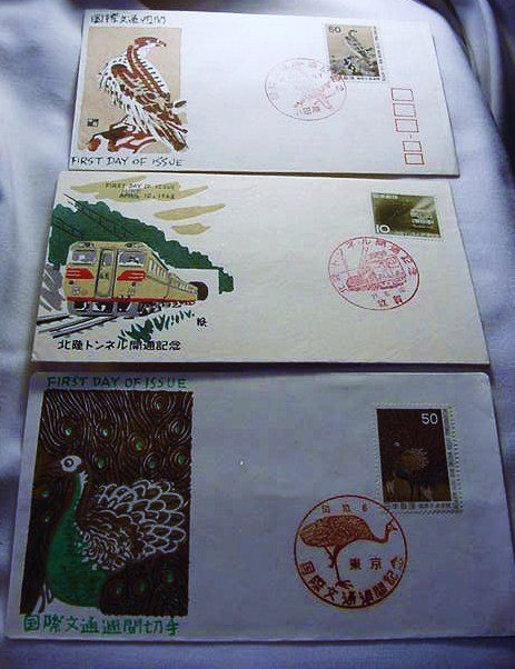 15: [3] JAPANESE FIRST DAY COVERS