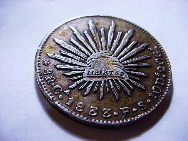 1: 1833 Ga F.S. MEXICO 8 REALES