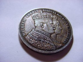 3: 1861 PRUSSIA THALER SILVER COIN