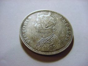 1888 INDIA VICTORIA SILVER RUPEE