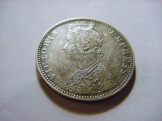 10: 1888 INDIA VICTORIA SILVER RUPEE