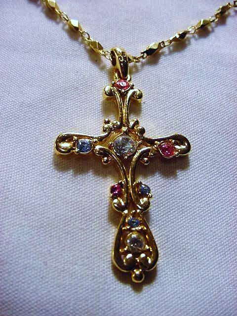 11: VINTAGE NAPIER CROSS NECKLACE