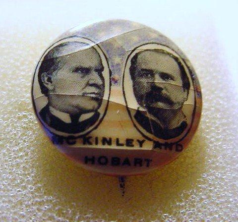 McKINLEY HOBART CAMPAIGN BUTTON