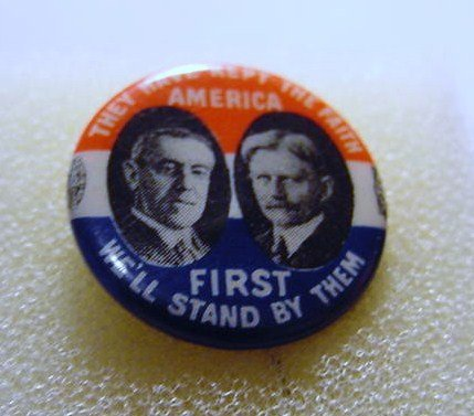 WOODROW WILSON  CAMPAIGN BUTTON