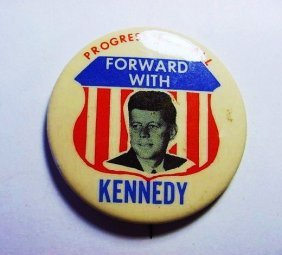 PRESIDENT KENNEDY CAMPAIGN BUTTON