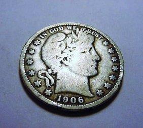 1906-O BARBER HALF DOLLAR