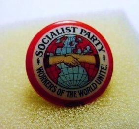 VINTAGE SOCIALIST PARTY BUTTON