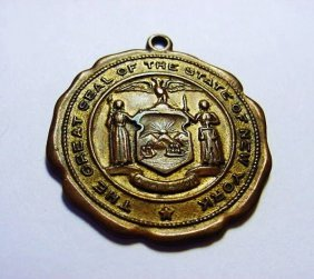 ANTIQUE NEW YORK STATE MEDAL