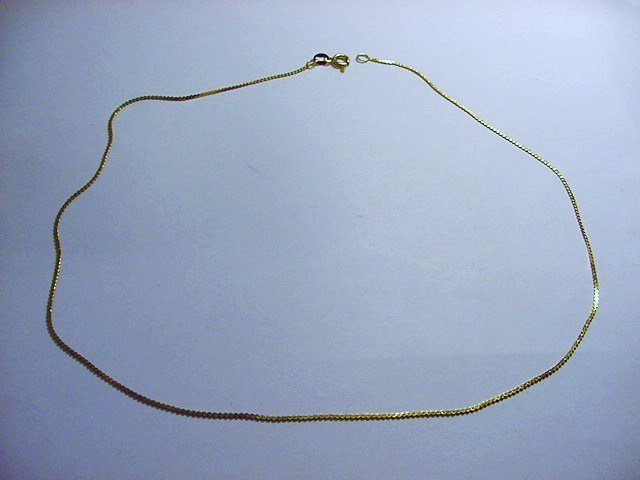 GOLD GILT STERLING CHAIN
