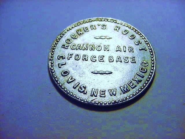 ROCKERS ROOST CANNON AIR FORCE BASE NEW MEXICO TOKEN