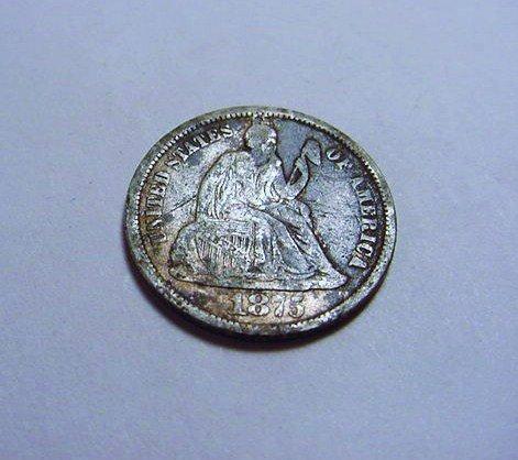 1875-CC SEATED DIME