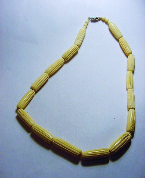CARVED BONE NECKLACE