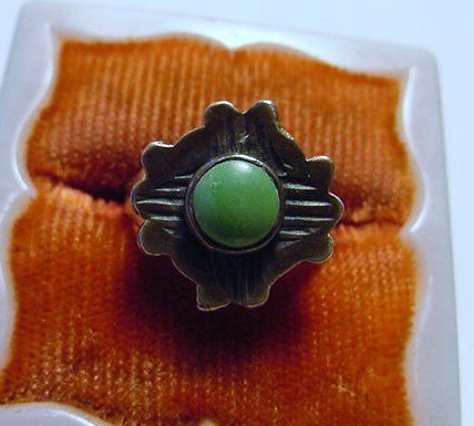 NACAJO STERLING TURQUOISE RING SIZE 3
