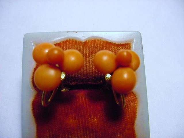 VINTAGE CORAL GOLD FILLED EARRINGS