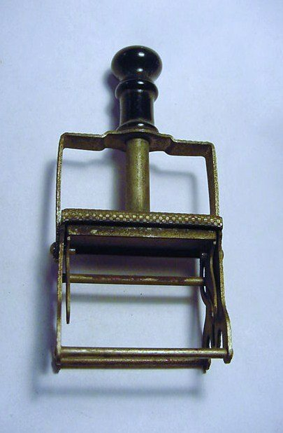 1882 MECHANICAL HAND STAMPER