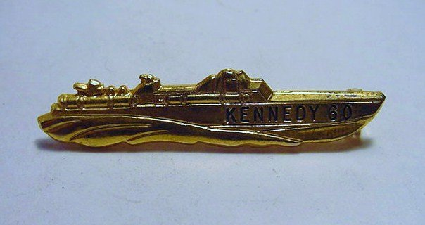 1960 KENNEDY CAMPAIGN PT 109 PIN