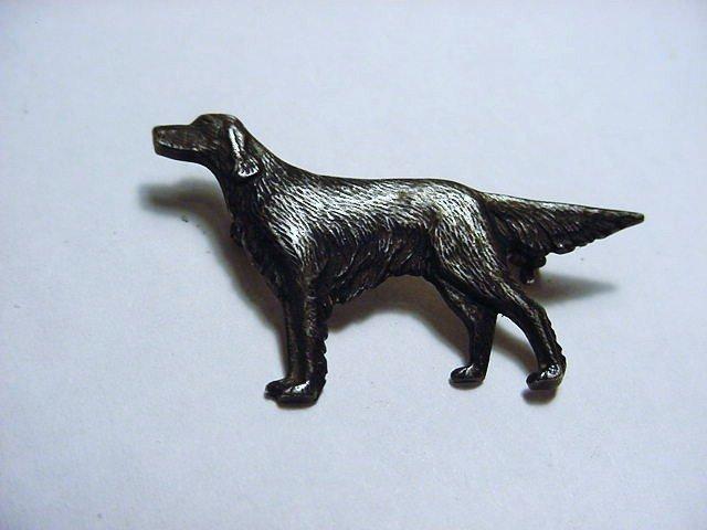 VINTAGE STERLING DOG PIN