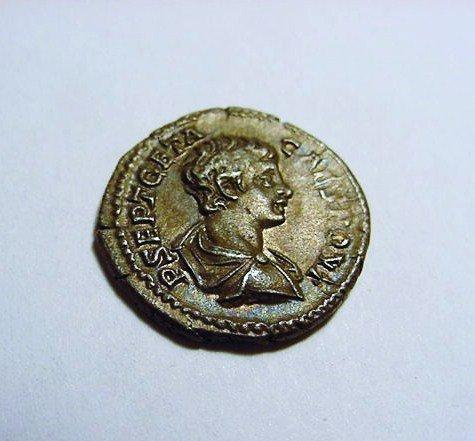 198-211 GETA ANCIENT ROMAN SILVER DENARIUS