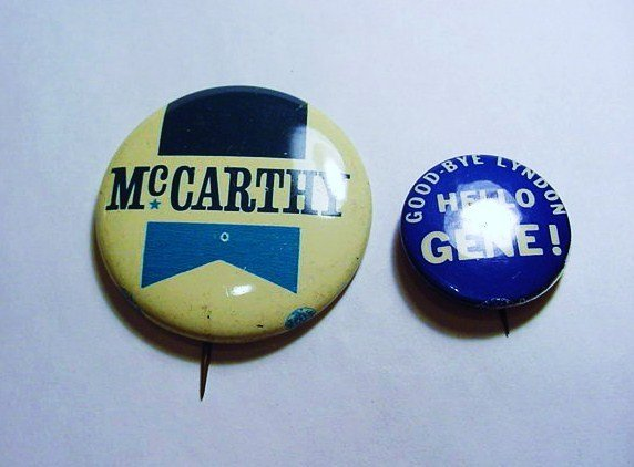 [2] McCARTHY CAMPAIGN BUTTONS